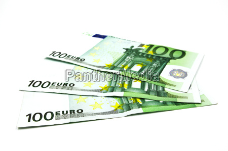 one hundred euro banknote on a