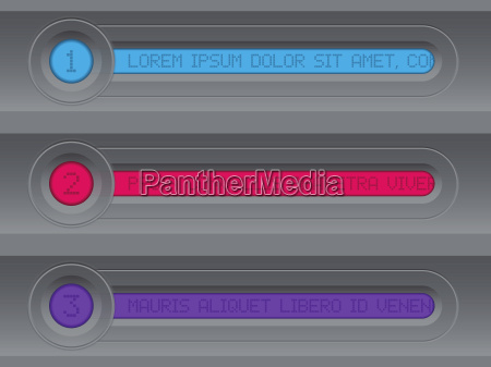 tech infographic design with colorful lcd