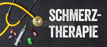 stethoscope and medication pain therapy
