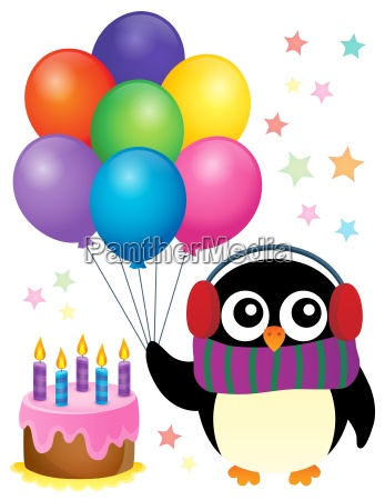 party penguin theme image 1