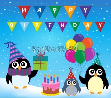 party penguin theme image 2