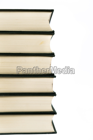 stack of hardcover books isolated with
