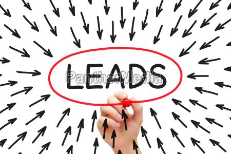 lead generation arrows concept
