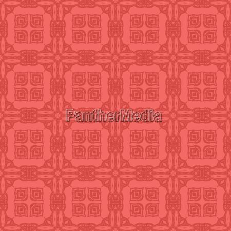red ornamental seamless line pattern endless