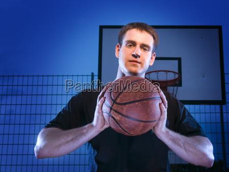 man with baketball