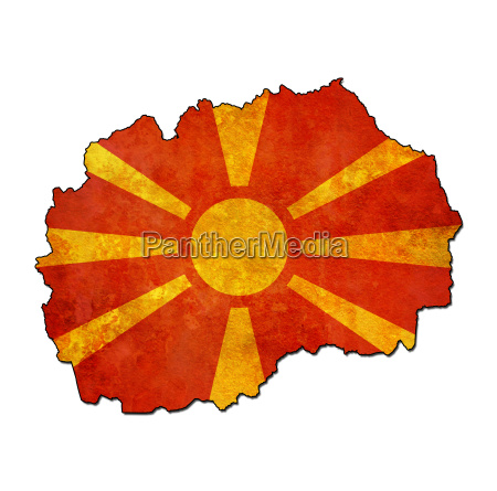 macedonia territory with flag