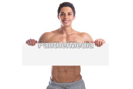 bodybuilding bodybuilder muscles blank sign copy