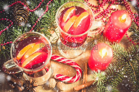christmas mulled wine vintage toned and