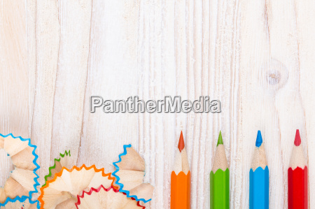 creative background with pencils and pencil