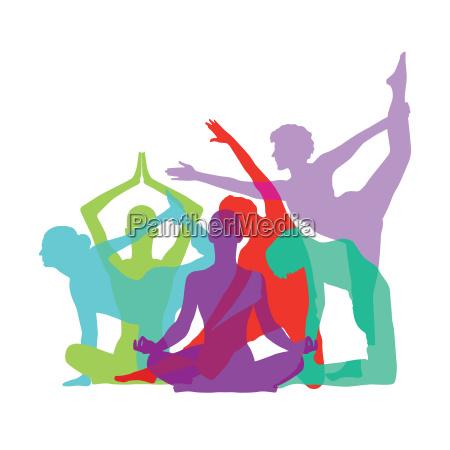 yoga figures