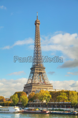 cityscape of paris with the eiffel