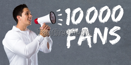 10000 ten thousand fans likes social