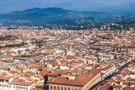 florence city skyline from campanile