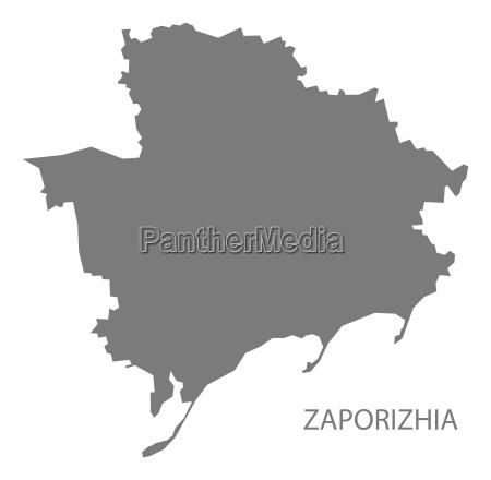 zaporizhia ukraine map grey