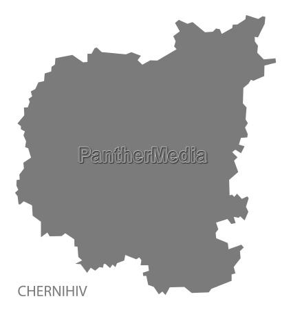 chernihiv ukraine map grey