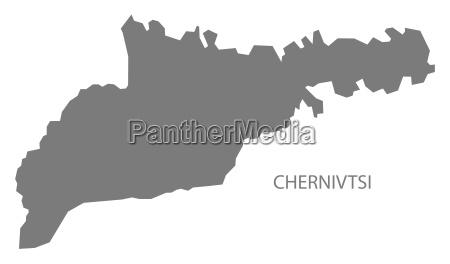 chernivtsi ukraine map grey
