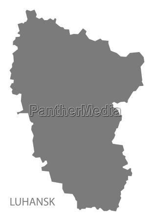 luhansk ukraine map grey