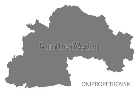 dnipropetrovsk ukraine map grey