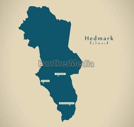 modern map hedmark norway no