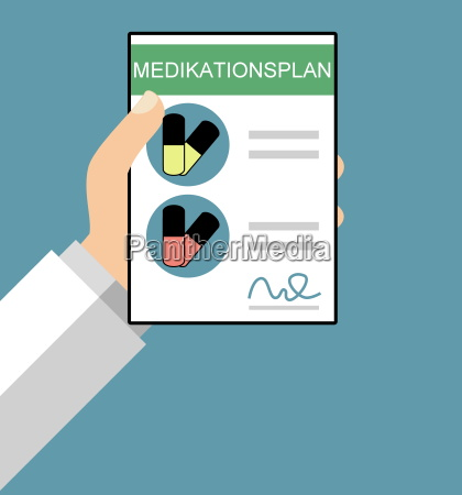 medication schedule flat design