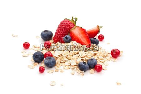 oats fruits and honey