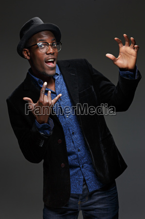 the black man happy expression