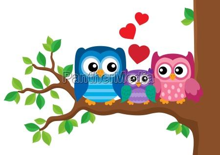 owl family theme image 2