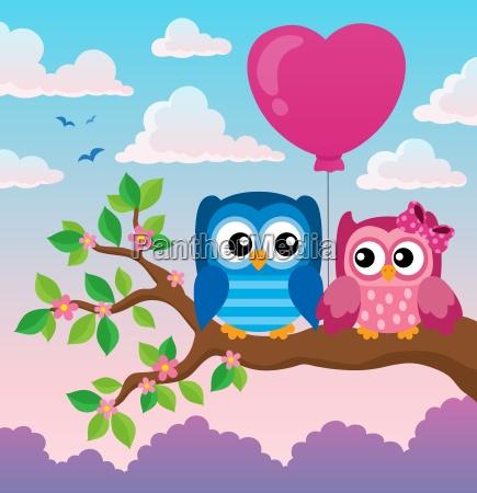 valentine owls theme image 2