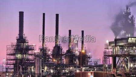 industrial chimneys port of rotterdam