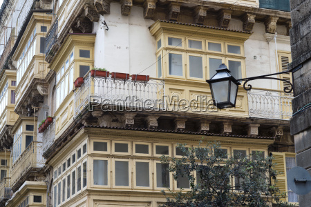 maltese architecture with balconies and windows
