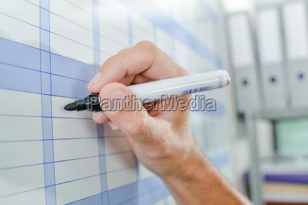 marking on calendar