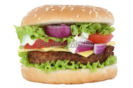 cheeseburger hamburger burger cheese tomato salad