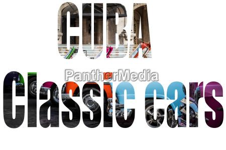 amerikanische oldtimer in kuba freigestellt mit