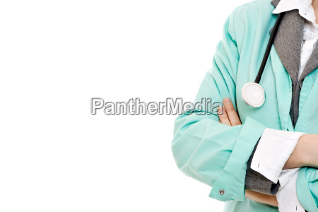 woman doctor with stethoscope on a