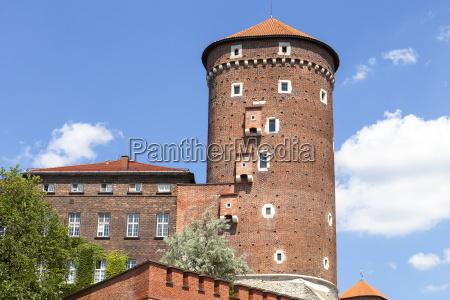 wawel royal castle with sandomierska tower
