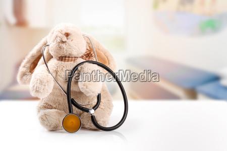children doctor concept rabbit with