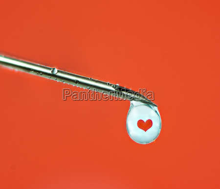 love injection with a syringe