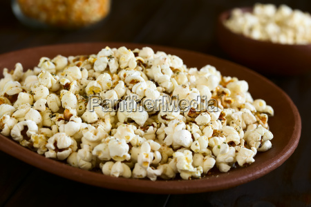 popcorn with cheese garlic and oregano