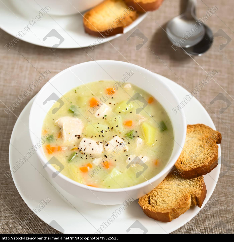 chicken, and, potato, chowder, soup, - 19825525