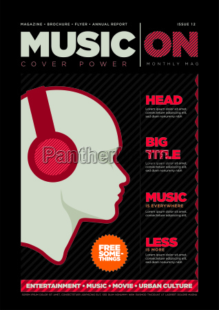 magazine cover design template