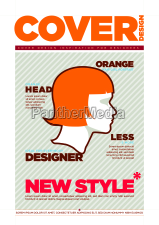 magazine cover design template