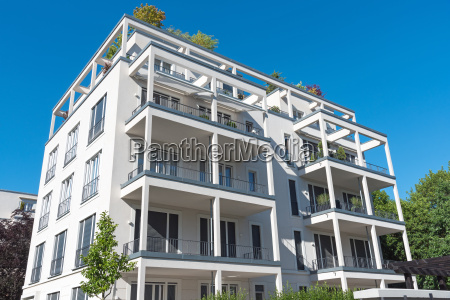new white apartment building in berlin