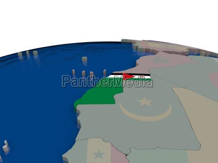 western sahara with flag