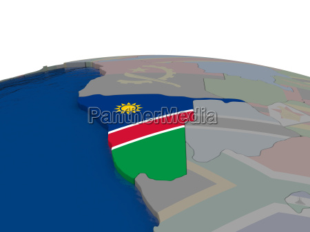 namibia with flag