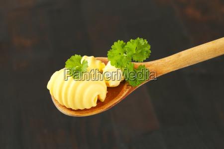 butter curls on spoon