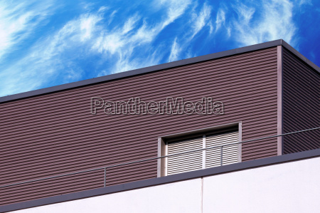 abstract modern building detail and cloudy
