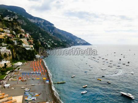 positano italy along the stunning amalfi