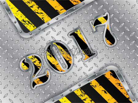 industrial 2017 background with metallic elements