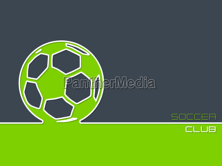 soccer club background flat style
