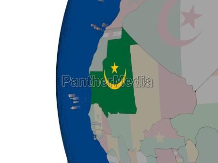 mauritania with national flag